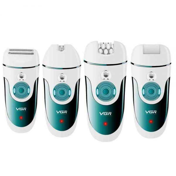 VGR 4 in 1 Women Epilator 100 240v USB Rechargeable Electric Female Epilator Body Hair remover.jpg q50