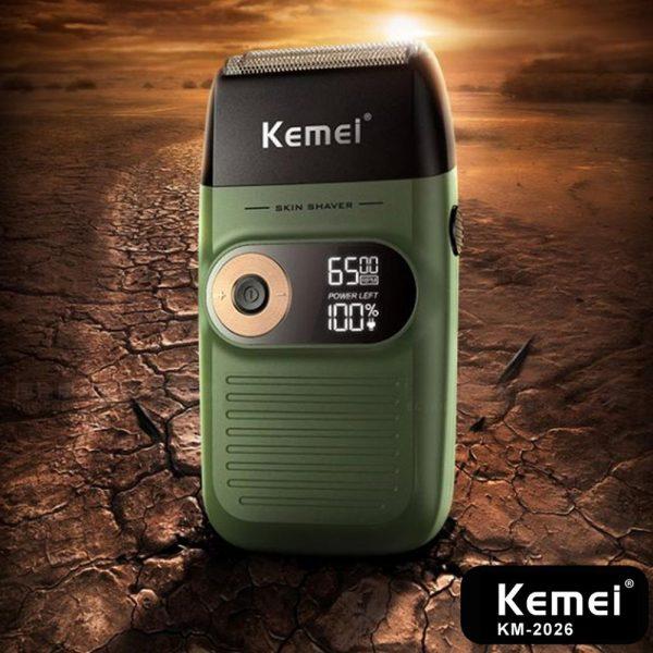 KEMEI Electric Shaver Rechargeable Electric Beard Trimmer Shaving Machine for Men Beard Razor Wet Dry Dual