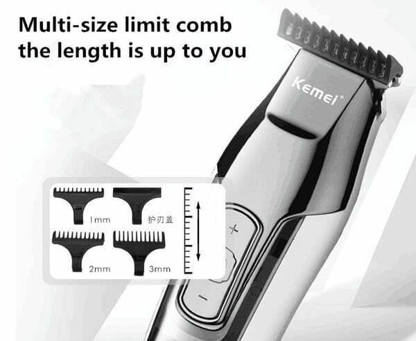 kemei km 5027 hair clipper electric razor men carbon steel head shaver hair trimmer high capacity lithium battery plug or usb charged